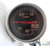 """BRITZ(ブリッツ) ターボメーター(レーシングメーター) """"TURBO(φ52mm)"""""""