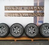 16インチアルミホイール+グッドリッチタイヤの4本セット