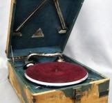 Augon(オーゴン) 浮世絵仕様 ポータブル蓄音機+SP盤レコード7枚付き