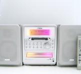 Victor(ビクター) CD/MD/カセット ミニコンポ CA-UXQ1-S(本体 CA-UXQX1-S, スピーカー SP-UXQX1-S, リモコン RM-SUXQ1-S)