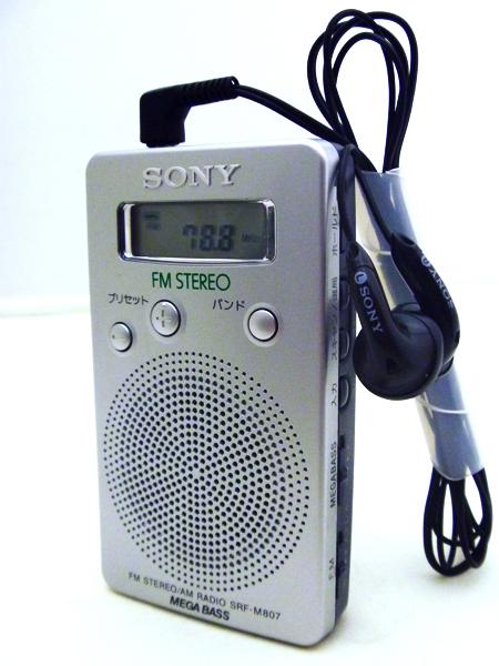 SONY FMステレオ/AM PLLシンセサイザーラジオ SRF-M807