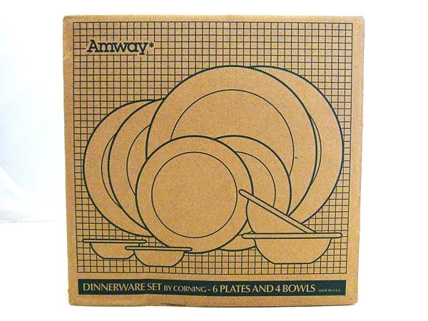 Amway(アムウェイ) ディナーウェア10ピースセット BY CORNING(コーニング) 「プレート6枚 ボウル4個」 E-3215