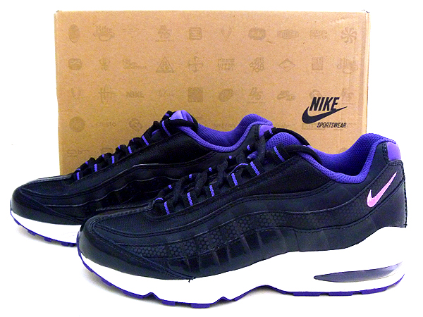 NIKE(ナイキ) AIR MAX95 LE(GS) 6.5Y(24.5cm)「BLACK/PURPLE/WHITE 310830-004」