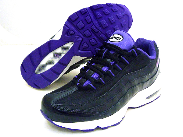NIKE(ナイキ) AIR MAX95 LE(GS) 7Y(25cm)「BLACK/PURPLE/WHITE 310830-004」