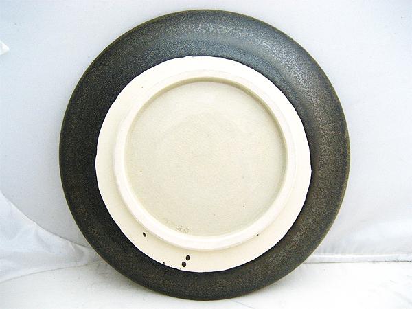 上神焼(かづわやき) 中森不入作 飾皿 絵皿