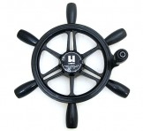 ユニカス(UNIKAS) ハンドル 操舵輪 ステアリング 直径 約38cm