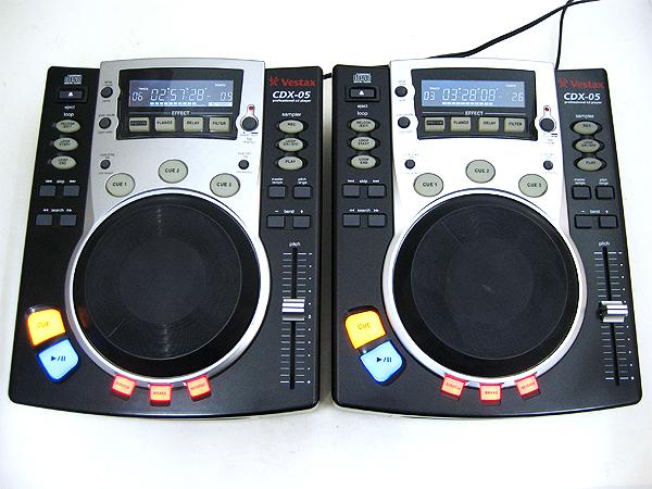 Vestax(ベスタクス) DJ用CDプレーヤー CDX-05(CDP-TWIN) 2台セット