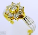 Pt900(プラチナ)×K18(18金) ダイヤモンド(0.5ct) コンビリング