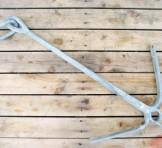 二爪唐人アンカー 中古唐人錨 約3.5kg(ロープ 約50m付き)